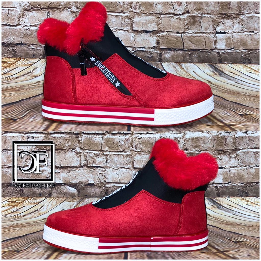 gefüttert Herbst Winter SCHINO SPORT Fashion Sneakers mit