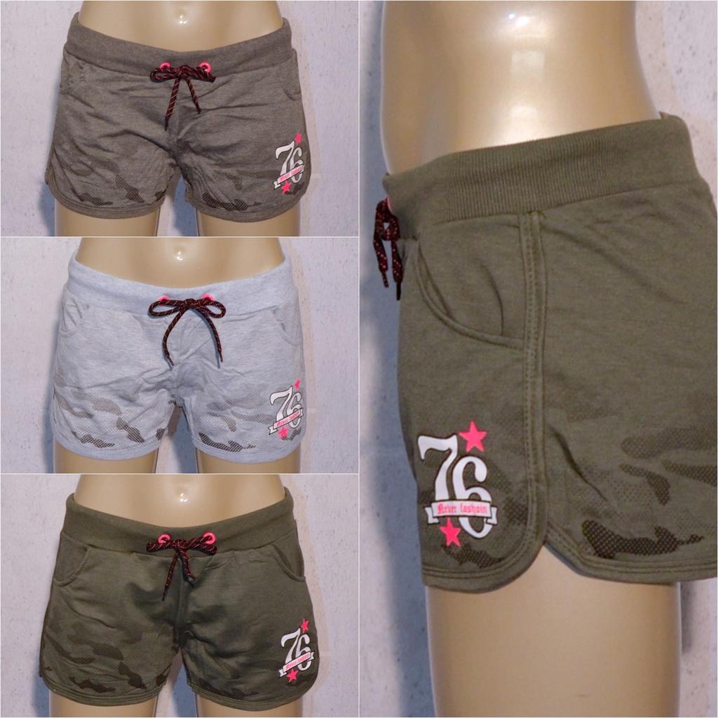 Damen Camouflage SHORTS Hot Pants Kurze Hose mit print