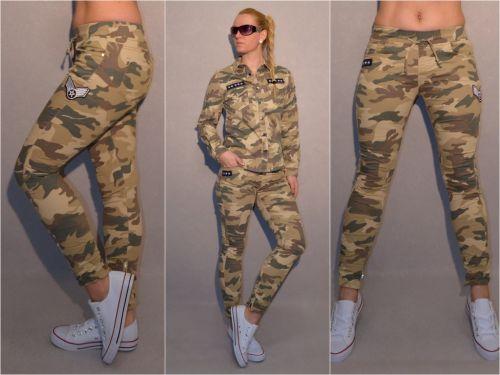 Militär Hemd Stretch CAMOUFLAGE Bluse mit Applikationen Army