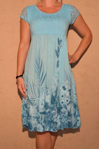 Luftiges Sommerkleid mit Blumenmuster HELLBLAU | eBay