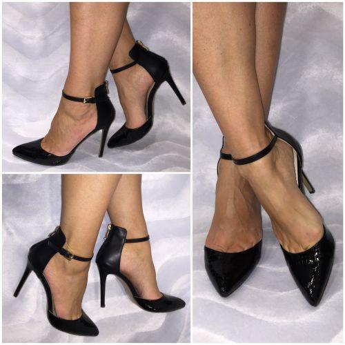 elegant spitze riemchen high heels pumps schwarz ebay. Black Bedroom Furniture Sets. Home Design Ideas