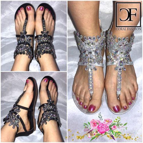 fashion zehentrenner sandalen sandaletten mit multy. Black Bedroom Furniture Sets. Home Design Ideas
